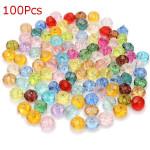 100stk mischte Farben runde lose Kristalldistanzscheiben Korn DIY Schmuck Schmuckherstellung & Reperatur
