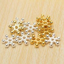 100stk Silber Gold 8mm Gänseblümchen Blumen Distanzscheiben Korn DIY Schmuckzubehör