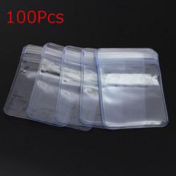 100Pcs Ziplock Zip Reclosable PVC Clear Plastic Bags 50X50mm