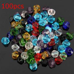 100stk 4mm Glaskristalldoppelkegel Perlen Schmuck Herstellung