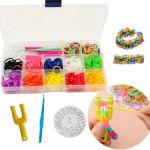 12 Farver Gummi Bands DIY Armbånd Loom Making Kit Set Smykkefremstilling & Reparere
