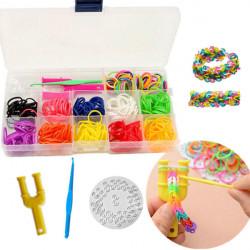 12 Colors Rubber Bands DIY Bracelet Loom Making Kit Set