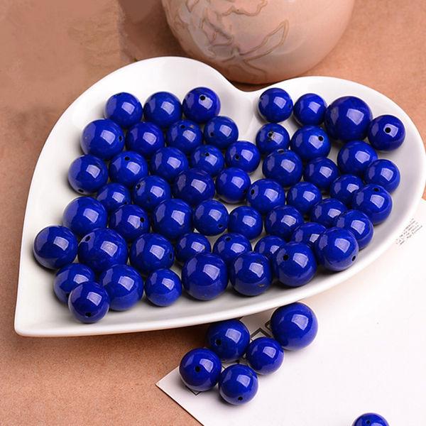 1PC 6A Naturliga Rundade Lapis Lazuli Bead 4-12mm DIY Smycken Smyckestillverkning & Reparation