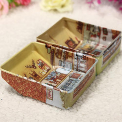 1pc Mini Full Painted Small House Tin Smykker Opbevaringsboks