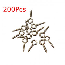 200Pcs Silver Tone Screw Eyes Bails Pins Top Drilled Jewelry Findings