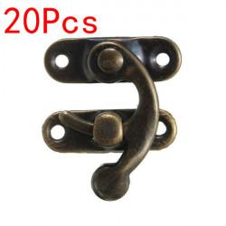 20stk Antique Bronze Metal Box Verriegelungshaken Verriegelung Anschlag Haken