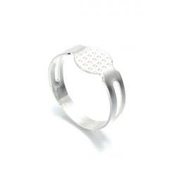20stk Silber überzogene Ring freie Räume