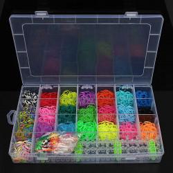 22 Farben Gummi Loom Bands DIY Armband, das Kit mit Clips Set