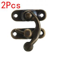 2st Antik Brons Metall Box Latch Hooks Låsspärren Knäppen