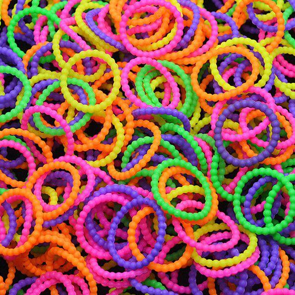 300stk bunte Perle wulstige Loom Gummibänder mit Klipps DIY Armband Schmuckherstellung & Reperatur