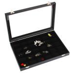 30 Grids Schmucksache Behälter Aufbewahrungsbehälter Halsketten Ohrringe Armbänder Showcase Schmuck Zubehör
