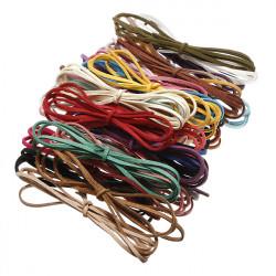 3mm Mehrfarben Leder Schnur Veloursleder Spitze DIY machen Armband Halskette