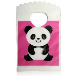 50stk schöne Muster Plastiktasche Drucken Schmuck Mini Geschenk Beutel