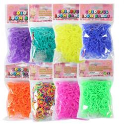 600stk Farverige Jelly Loom Elastikker Med Clips Hook DIY Armbånd