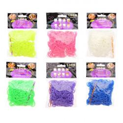 600Pcs Fruit Flavour Loom Rubber Bands DIY Bracelet Craft With Clips