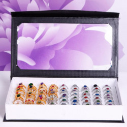 72 Slots Ringe Holder Box Bakke Organizer Show Case Jewelry Display
