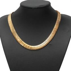Lätzchen Silber Gold Thick Snake Halskette der Frauen Männer Schmuck