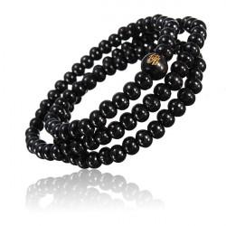 Buddhist Buddha multi Kette schwarze Perlen Armband Halsketten