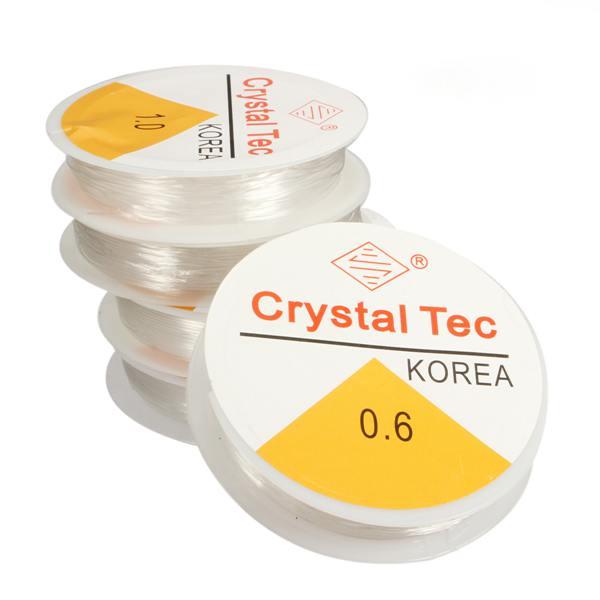Klar Stretchy elastisches Seil Schnur Schnur Gewinde für Schmuckherstellung Schmuckherstellung & Reperatur