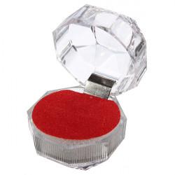 Kristall Ring Ohrringe Brosche Lagerung Vitrine Schmuck Geschenk Box