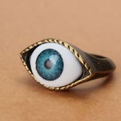 Halloween Vintage Punk Bronze Evil Eye Ring Eyeball Finger Ring
