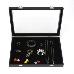 Große Schmucksache Behälter Aufbewahrungsbehälter Halsketten Ohrringe Armbänder Showcase
