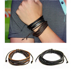Leather Woven Rope Bracelet