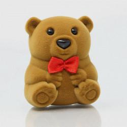 Lovely Bear Formad Sammet Ringen Örhänge Smyckeskrin Presentförpackning