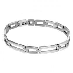 Mens Silver Titanium Steel Watch Band Shape Bracelet Glaze Jewelry