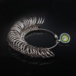 Metal Fingerringe Sizer Smykker Measure Værktøj Gauge Værktøj