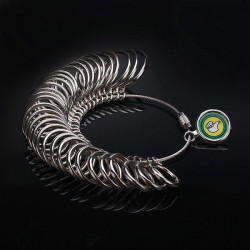 Metal Finger Ring Sizer Jewelry Measure Tool Gauge Tool
