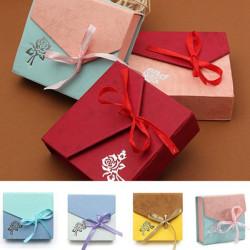 Mischfarbe Bandbowknot Platz Karton Armband Schmucksache Kasten Kasten