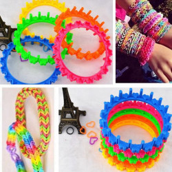 Multicolor DIY Gummibänder Armband Runde machen stricken Webstuhl Weber