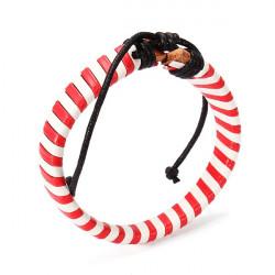 Multicolor eingewickelte Leder Armband Seil Gurt Mann Armband