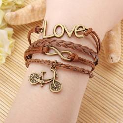 Owl Kors Anchor Kärlek Multi Armband Läder Herr Armband