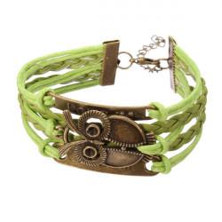 Owl Love Letter Multischichten Armband unbegrenzter Symbol Leder Armband