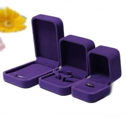 Purple Velvet Smykker Display Kasse Ring Halskæde Armbånd Case