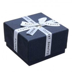 Ribbon Bowknot Cube Ring Earrings Jewelry Box Cardboard Gift Box