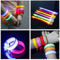 Fahrwerk glühender LED Handgelenk Band Leuchten blinken Nylonband Armband