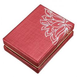 Square Kartong Lotus Armband Bangle Örhängen Ring Smyckeskrin