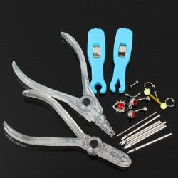 Steril Engangs Body Piercing Kit Værktøjs Needle Belly Ring Smykker