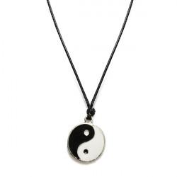 Unsiex Silber überzogene tibetischen Charm Lederband Halskette