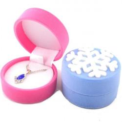 Velvet Schneeflocke Ring Ohrringe Halskette Schmuck Box Speicher Tasche Geschenk