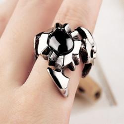 Vintage Jewelry Sort Scorpion Titanium Stål Ring for Mænd