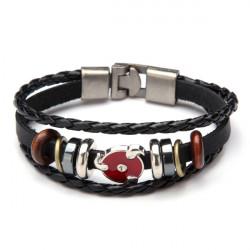 Vintage Multilayer Wrap Genuine Leather Bracelet For Men