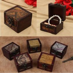 Weinlese hölzerne Schmucksache Aufbewahrungsbehälter Kasten mit Metallverschluß Multi Patterns