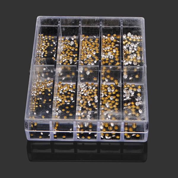 1000stk Crystal Silver Guld DIY Watch Smykker Værktøj Urmager Værktøj