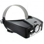 10X Lighted Magnifying Glass Headset LED Headband Loupe Watch Tools