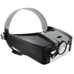 10X Oplyste Forstørrelsesglas Headset LED Headband Loupe Urmager Værktøj