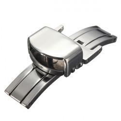 12 22mm Edelstahl Schmetterling Faltschließe Armband Buckle